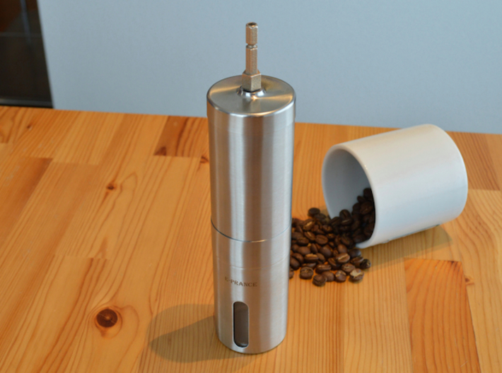 Coffee Grinder Bit For Drill Driver CDP-LRE 3d printed With Stainless Steel Coffee Grinders With Pentagon Shaft Like Porlex