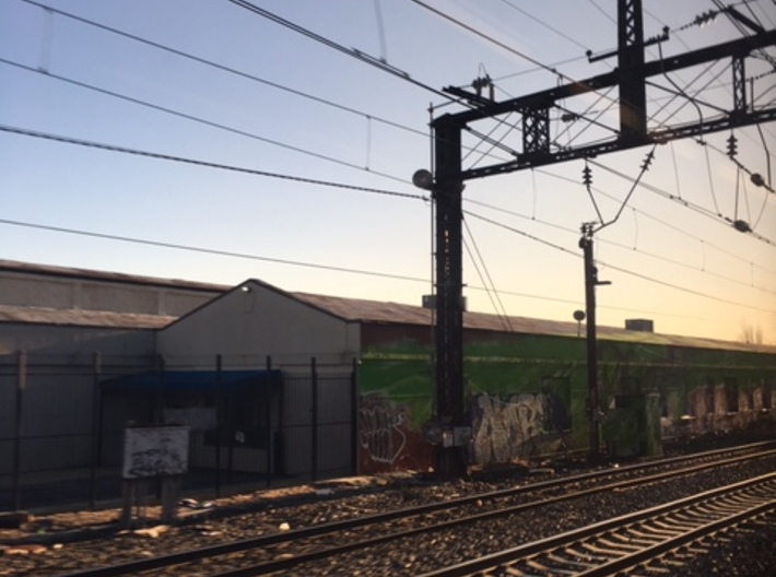 PRR NORTH PHILLY LATICE POLE STAG 5 TRACK 3d printed