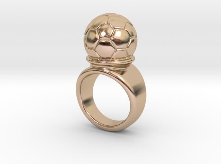 Soccer Ball Ring 16 - Italian Size 16 3d printed