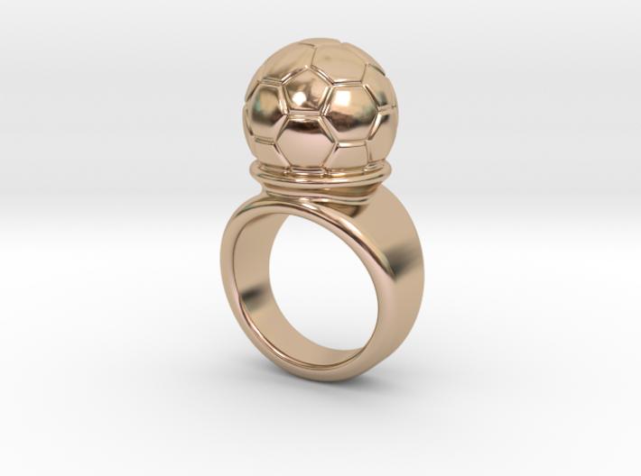 Soccer Ball Ring 17 - Italian Size 17 3d printed