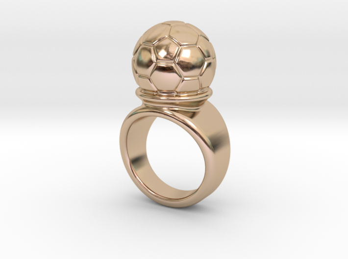 Soccer Ball Ring 18 - Italian Size 18 3d printed