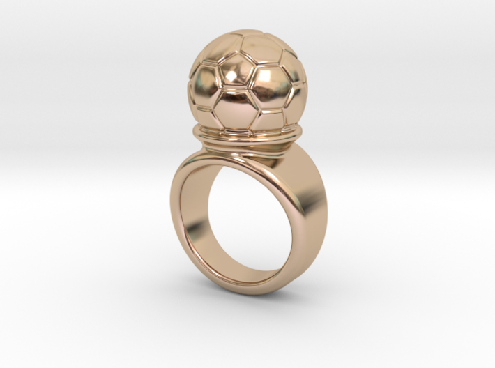 Soccer Ball Ring 19 - Italian Size 19 3d printed