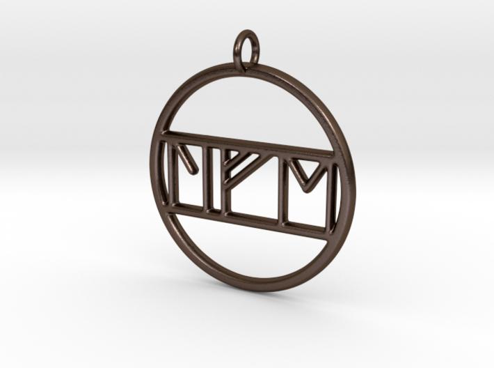 Life in Nordic Rune Pendant 3d printed