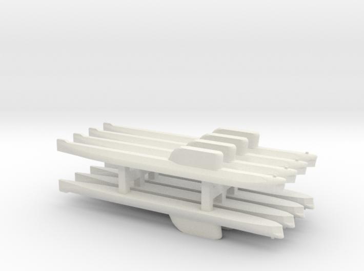 Hotel-Class SSBN x 8, 1/1800 3d printed