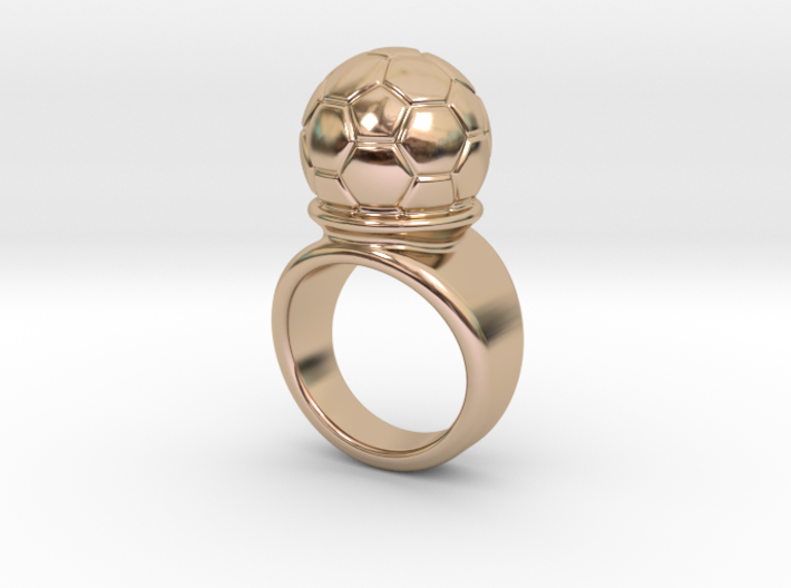 Soccer Ball Ring 32 - Italian Size 32 3d printed