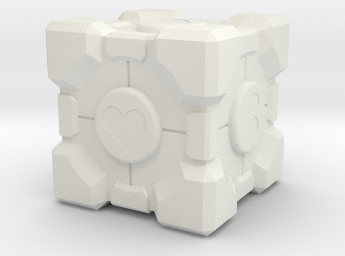 "Weighted Portal Cube - Heart - 1"" (100% Accurate) 3d printed"