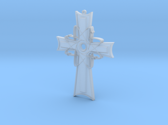 Atomic Cross Pendant (Beta) 3d printed