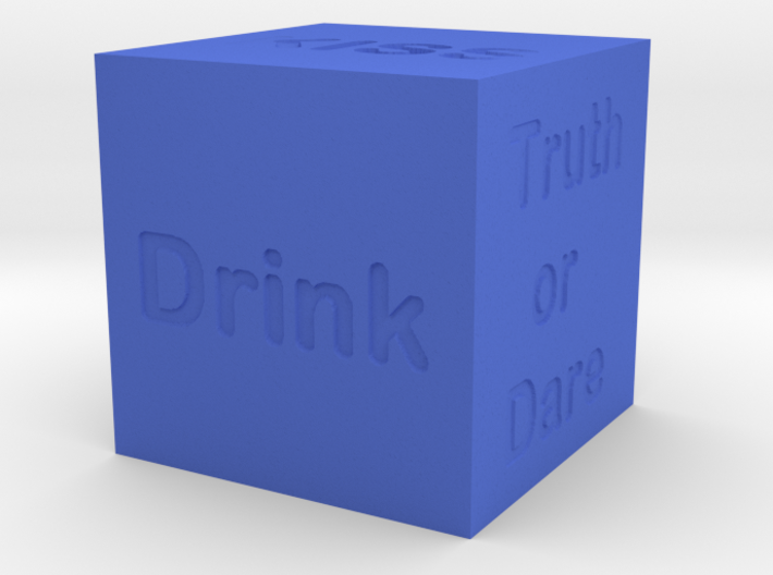 Dice of party crazy and challenges 3d printed