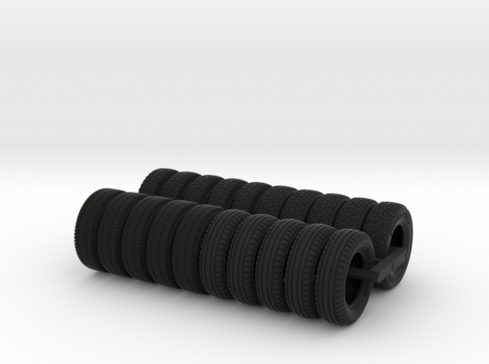 Bumper Tires For Tugboat Set 3d printed