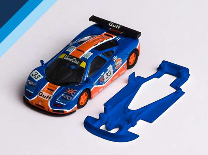 1/32 Ninco McLaren F1GTR Chassis for NSR pod 3d printed Chassis compatible with Ninco McLaren F1GTR body (not included)