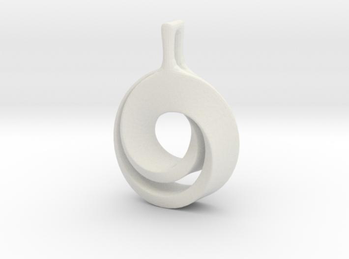 Möbius pendant 3d printed