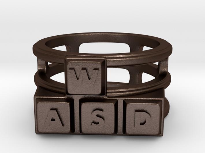WASD Ring 3d printed