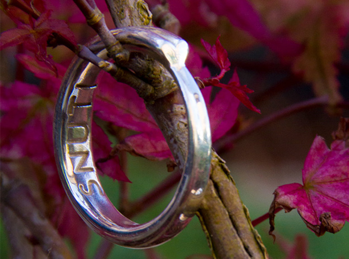 Infinite Love Ring 3d printed 18.5 mm ring in polished silver.