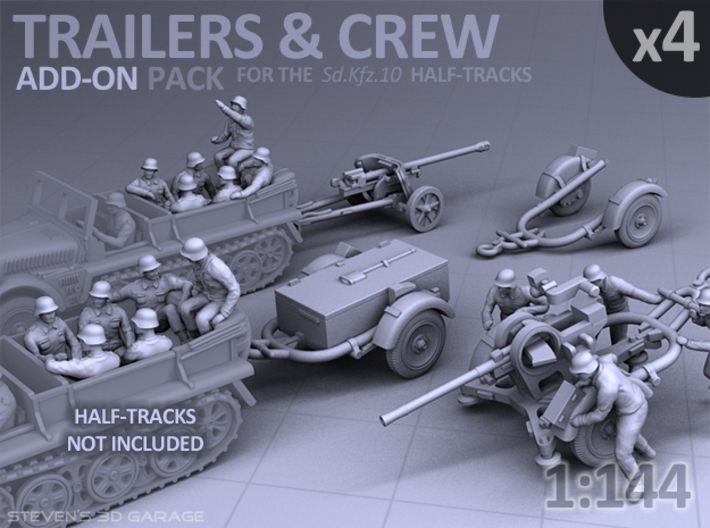 Trailers & Crew : Add-on (4 pack) 3d printed