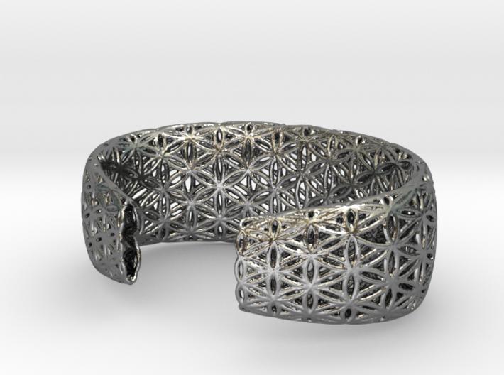 Flower Of Life Bracelet (Medium) 3d printed