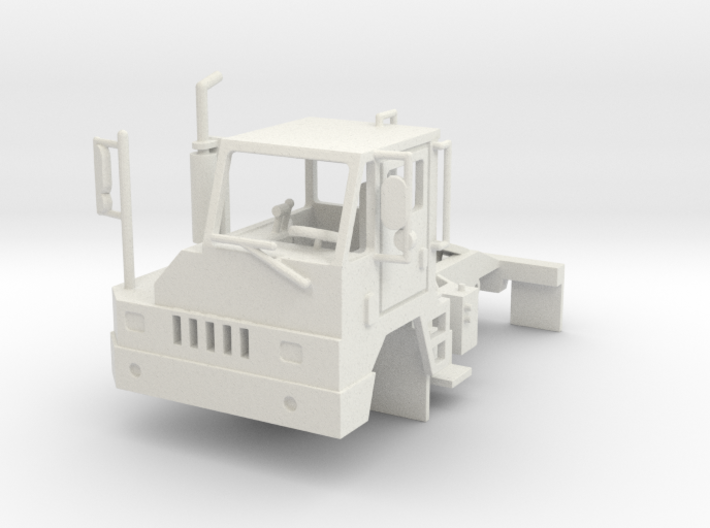 Yard Tractor 1-87 HO Scale White Strong & Flexible 3d printed