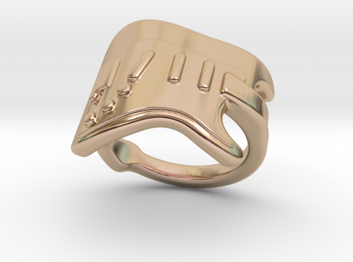 Electric Guitar Ring 18 - Italian Size 18 3d printed
