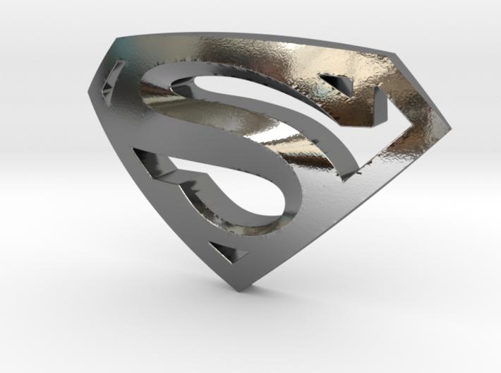 Superman Emblem 3d printed