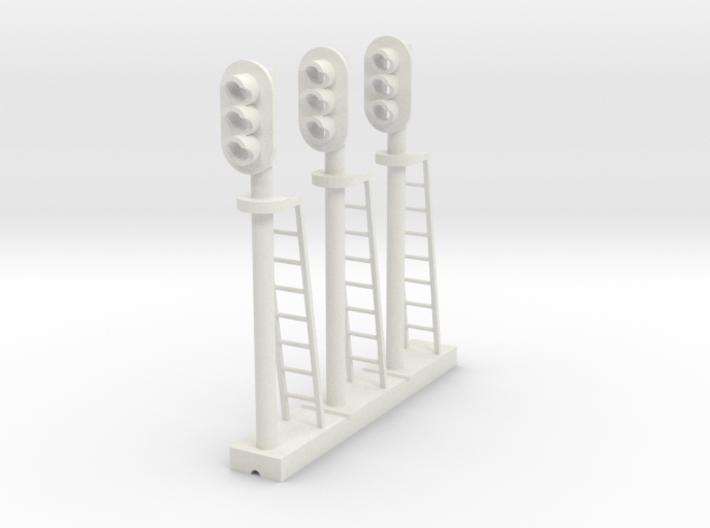 Block Signal 3 Light (Qty 3) - HO 87:1 Scale 3d printed