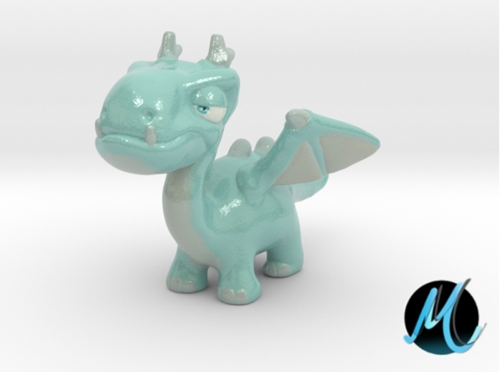 Dragon Sculpture - Snow Dragon 3d printed Dragon sculpture