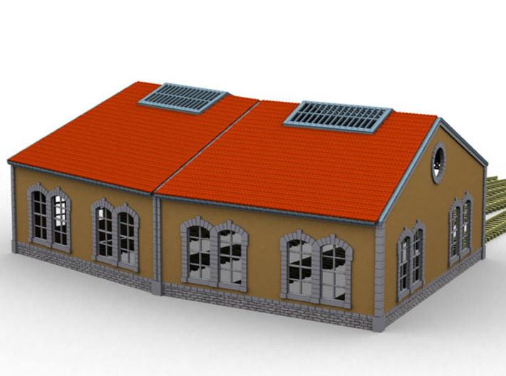 NRot11 - Railway roundhouse 3d printed