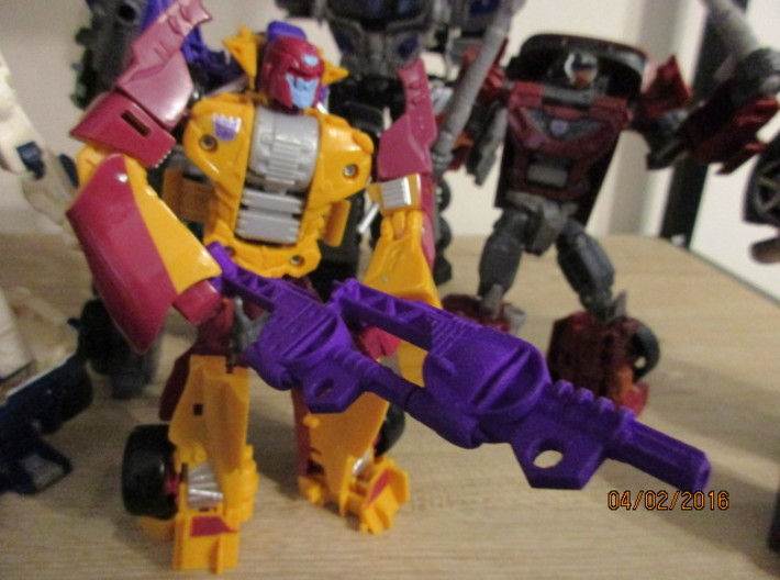 Menasor Brace Cannons 3d printed Combined into 'Rifle' mode