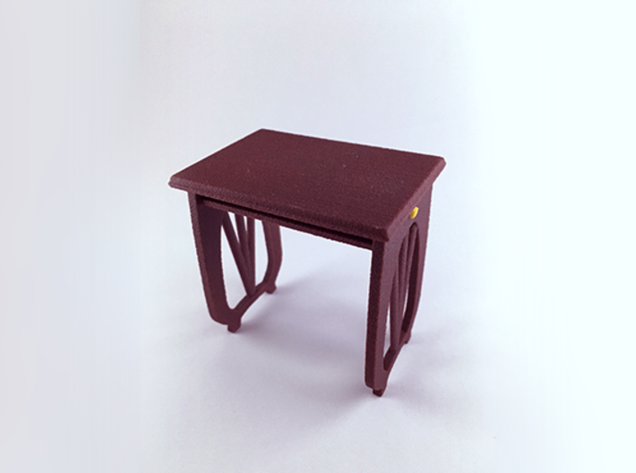 Sakuragaoka School Desk 3d printed Full Color Sandstone