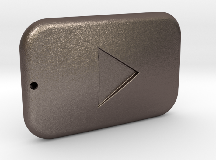 Youtube Button Keychain 3d printed
