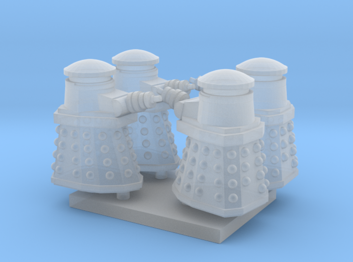 Dalek01 (4) N 160:1 Scale 3d printed