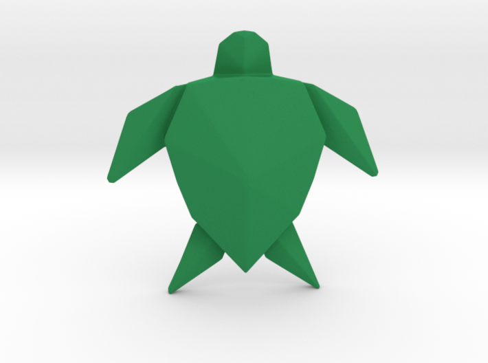 Origami Turtle  3d printed