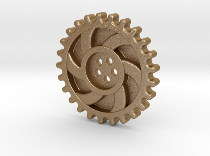 Steampunk Button 3d printed