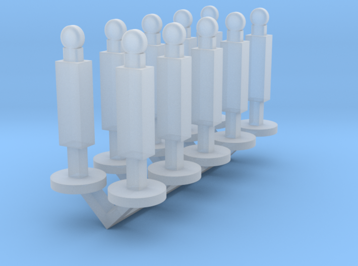 Panel Stanchion Barricade 1-87 HO Scale 3d printed