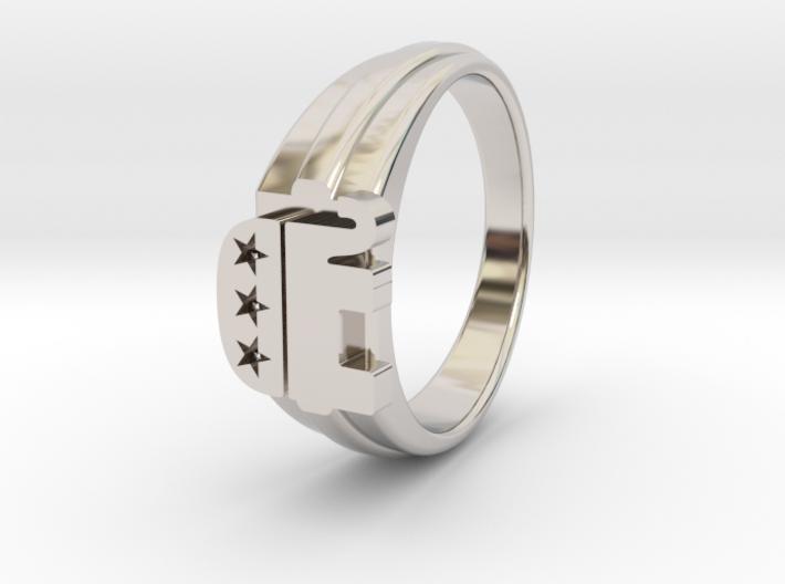 Ø0.699 inch/Ø17.45 mm Republican Ring 3d printed