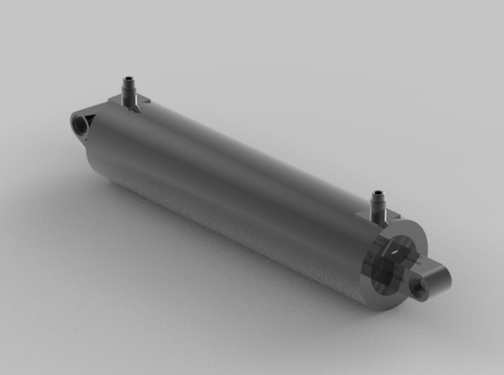 Double acting 2 stage pneumatic cylinder Lego Tec 3d printed