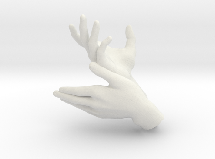 Deer - Hand Shadows 3d printed