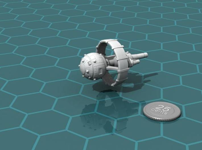 Belter Battlewagon v2 3d printed Render of the model, with a virtual quarter for scale.