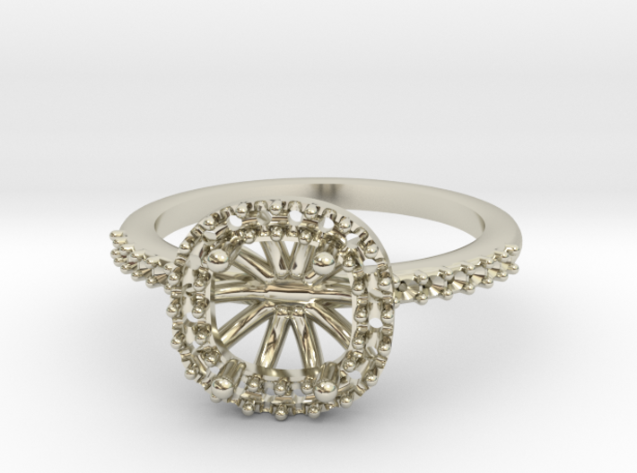 Cushion Engagement Ring 3d printed