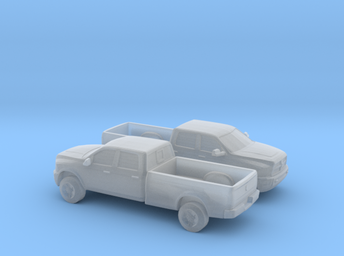 1/120 2X 2013 Dodge Ram Crew Long Bed 3d printed