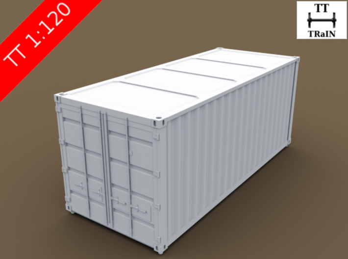TT Scale Container Standard 20' 3d printed Standard container 20'