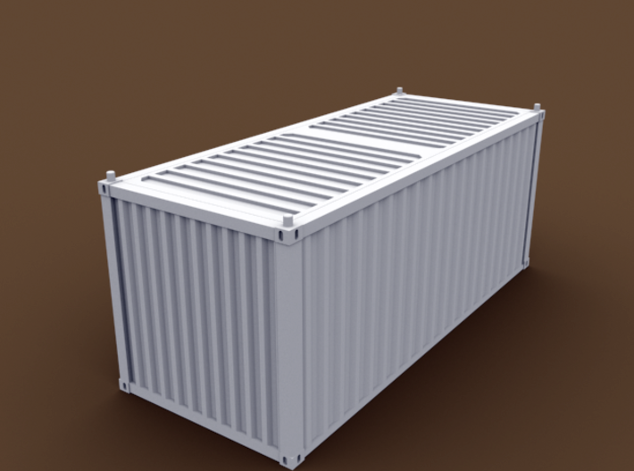 TT Scale Container Standard 20' 3d printed Standard container 20' bottom view