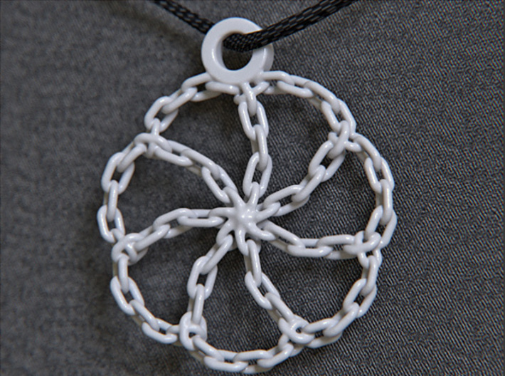 Chain Link Pendant 3d printed