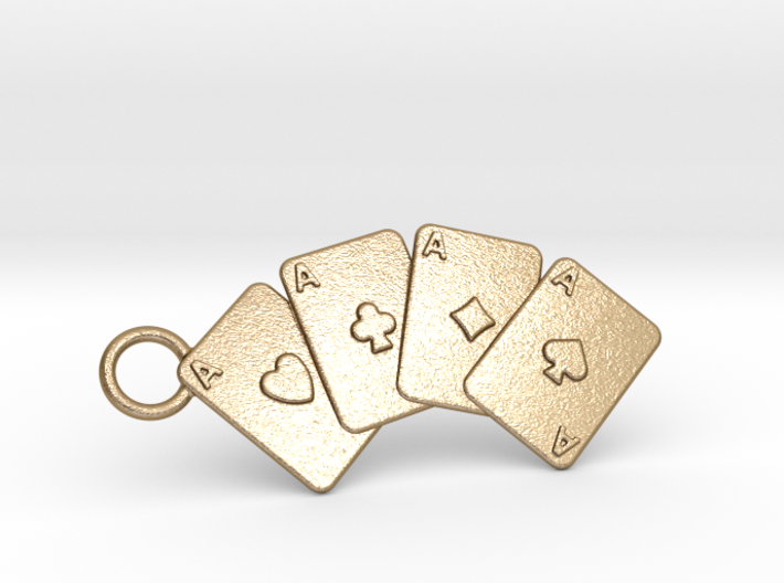 Aces Keychain 3d printed