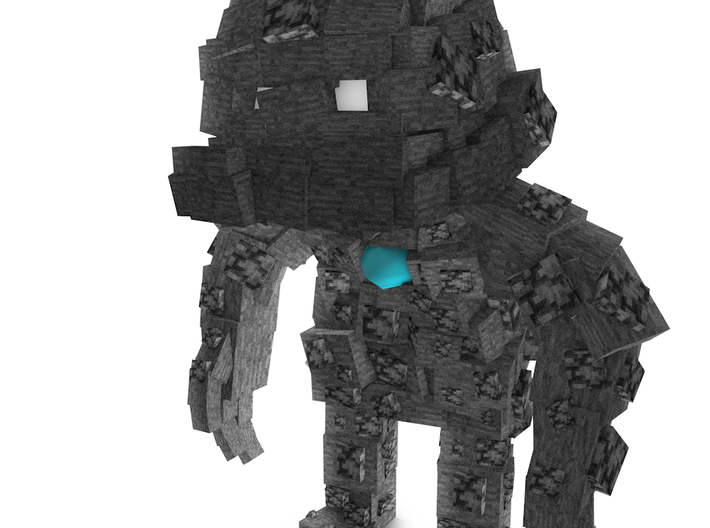Minecraft Rock Monster 3d printed Fully Textured