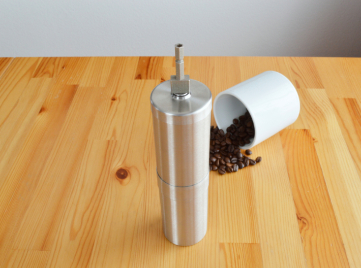 Coffee Grinder Bit For Drill Driver CDS-L 3d printed With Porlex Stainless Steel Coffee Grinder