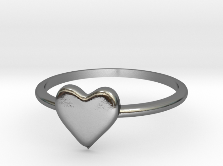 Heart-ring-solid-size-8 3d printed