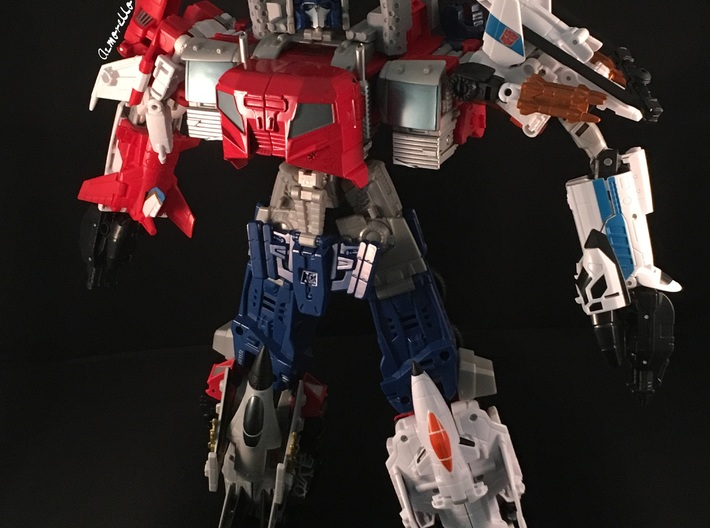 Combiner Wars Optimus Prime Smokestacks 3d printed Please note that item in this picture is printed from my own 3D Printer in grey PLA