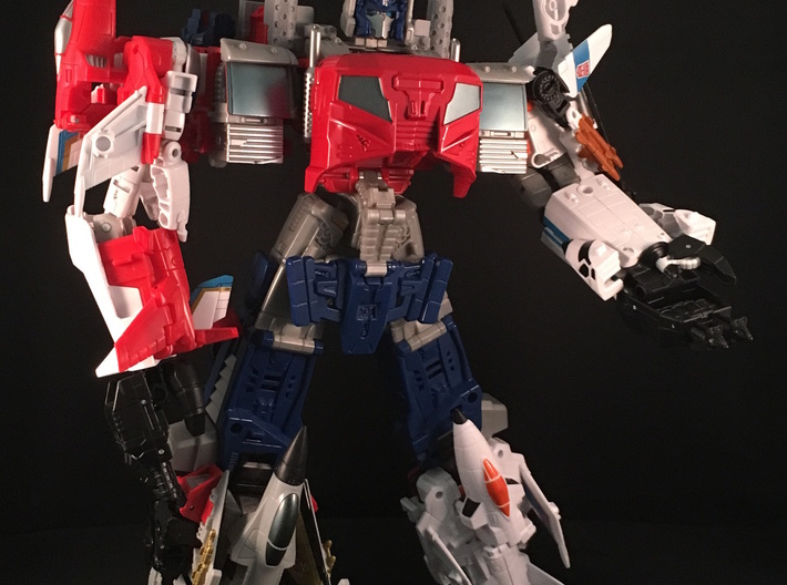 Combiner Wars Optimus Prime Smokestacks 3d printed Please note that item in this picture is printed on m own 3D Printer in Grey PLA
