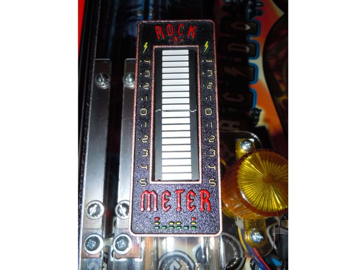 ACDC Style VU Barmeter Case 3d printed Painted and installed on a pinball machine