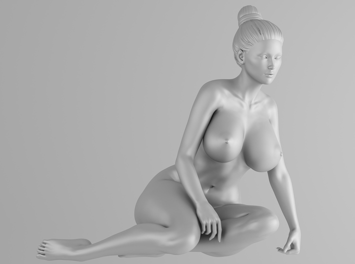 Scale in 1/32 Plump sexy girl 004 3d printed