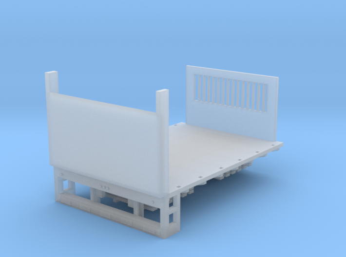 Stake Bed Truck Solid Bed Lift Gate UP 1-87 HO Sca 3d printed